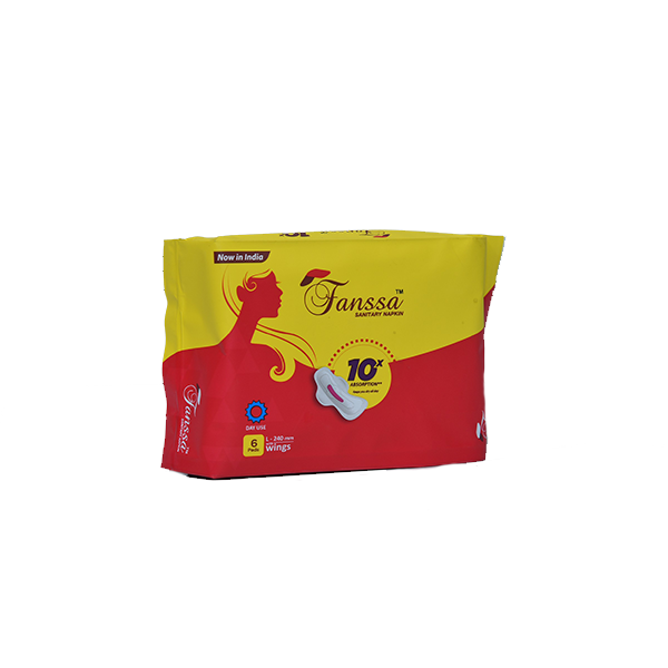 Fanssa Sanitary Napkins 6 Pads L (220mm)