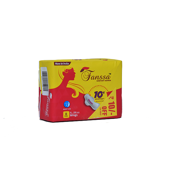 Fanssa Sanitary Napkins 8 Pads XL (290mm)